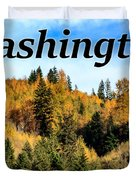 Randle Washington In Fall 02 Duvet Cover