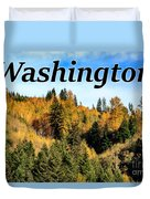 Randle Washington In Fall 02 Duvet Cover