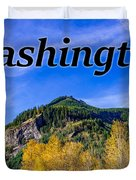 Randle Washington In Fall Duvet Cover