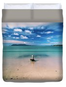 Raspins Beach In Orford On The East Coast Of Tasmania. Duvet Cover
