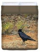 Raven, Grand Canyon Duvet Cover by Dawn Richards