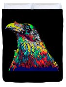 Raven Head Weird Bird Lucky Vintage Design Duvet Cover
