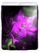Rays Of Bougainvillea Duvet Cover