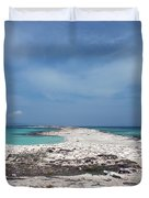 Reaching Out To Ibiza Duvet Cover