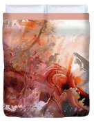 Red Abstract Art - The Vineyard - Sharon Cummings  Duvet Cover