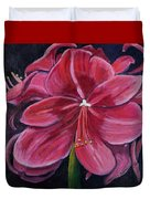 Red Amaryllis  Duvet Cover