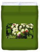 Red And White Surprise 2 Duvet Cover