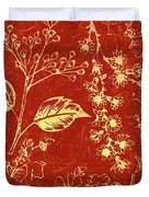 Red Blossoms Duvet Cover