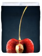 Red Cherry Still Life Duvet Cover