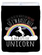 Red Hair Majestic Unicorn Funny Redhead Duvet Cover