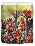 Red Hot Cholla  Duvet Cover