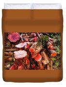 Red Logs Duvet Cover