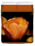 Red Orange Yellow Tulip Duvet Cover