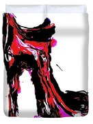 Red Shoe With High Heel Duvet Cover