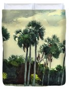 Red Shrt, Homosassa, Florida Duvet Cover