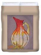Red Vase Duvet Cover