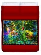 Redbird Singing Songs Of Love In The Tree Of Hope Duvet Cover