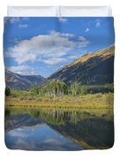 Reflections Of The Sawatch Range In The Autumn Duvet Cover