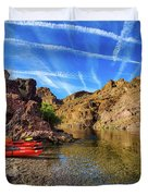 Reflections On The Colorado River Duvet Cover