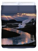 Reflections On The Firehole River Duvet Cover