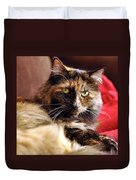 Regal Feline Duvet Cover