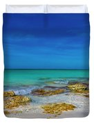 Remote Beach Paradise Turks And Caicos Duvet Cover