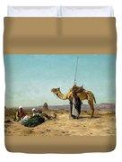 Rest In The Syrian Desert, 19th Century Duvet Cover