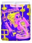 Retro Race Day Duvet Cover