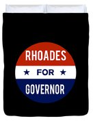 Rhoades For Governor 2018 Duvet Cover