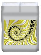 Ribbed Yellow Spiral Duvet Cover