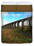 Ribblehead Viaduct On The Settle Carlisle Railway North Yorkshire Duvet Cover