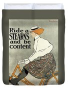 Ride A Stearns And Be Content, Circa 1896 Duvet Cover