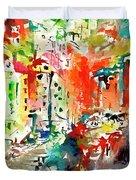 Riomaggiore Impressions Cinque Terre Italy  Duvet Cover