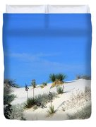 Rippled Sand Dunes In White Sands National Monument, New Mexico - Newm500 00106 Duvet Cover