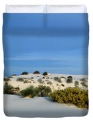 Rippled Sand Dunes In White Sands National Monument, New Mexico - Newm500 00114 Duvet Cover