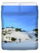 Rippled Sand Dunes In White Sands National Monument, New Mexico - Newm500 00119 Duvet Cover