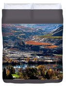 River, Canyon And Slopes Duvet Cover