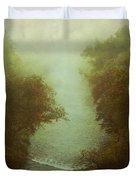 River In Fog Duvet Cover