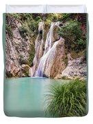 River Neda Waterfalls Duvet Cover