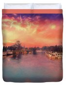 River Thames At Molesey Duvet Cover