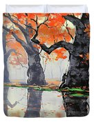 Riverside Trees Duvet Cover