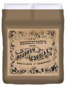 Robbertson's Kentucky Bourbon Cordial Ad C. 1857 Duvet Cover
