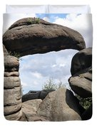 Rock Gate In The Nature Reserve Broumov Walls Duvet Cover