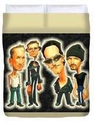 Rock N' Roll Warriors - U2 Duvet Cover
