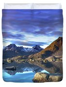 Rock Reflection Landscape Duvet Cover