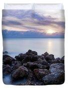 Rocky Beach At Sunset II Duvet Cover by Brian Jannsen