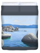 Rocky Cove On Lake Tahoe Duvet Cover