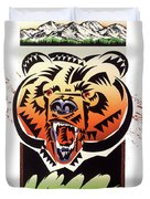 Rocky Mountain Grizzly Duvet Cover