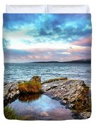 Rocky Pools Of Salty Sea Duvet Cover