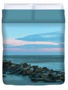 Rocky Shores Sunrise Duvet Cover